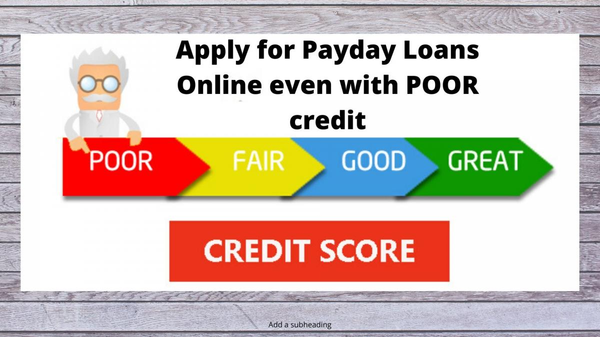 Bad Credit Payday Loans online